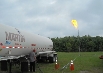Flaring all LPG trailers down